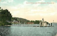 Wiers NH Captain Jack Statue Atop Endicott Rock~Lake Winepesaukee~1914 Postcard