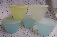 Vintage Tupperware pastel bowls with sheer lids #148 (lot of 5)