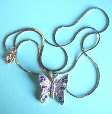 W3 / COLLIER PAPILLON - CHAINE PLAQUE OR
