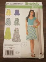 Simplicity Pattern 2184 2 Hour Easy Bias & Gored Skirt sizes 6 8 10 12 14 UNCUT