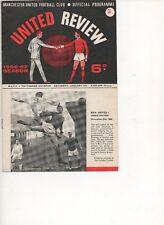 Man Utd home programme 1966/7 season  v  Spurs  14/1/67 Champions Again!