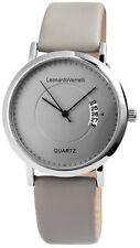 Leonardo Verrelli Herrenuhr Datumsanzeige Armband Grau SLV368