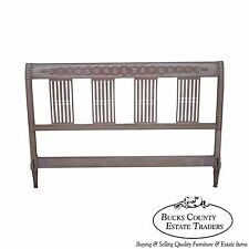 Vintage French Country Style Painted Queen Headboard