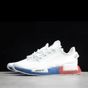 Adidas NMD R1 V2 Boost Men's Athletic Shoe White Running Sneaker Casual Trainers