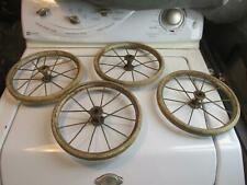 4 Vintage Antique Wire Spoked Baby Buggy Wheels