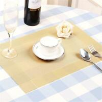 Dining Table Place Mats PVC Placemats Set Pad Weave Woven Effect Modern New