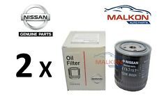 2 x NISSAN NAVARA D40 PATHFINDER R51 GENUINE OIL FILTERS 15208BN30A  REF: Z89A