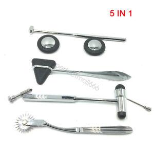 5pcs/set Medical Neurological Percussor Diagnostic Reflex Percussion Hammer