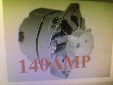 NEW 140 HIGH AMP Chevy GM CHROME 1-WIRE ALTERNATOR WITH BILLET FAN AND 6-GROOVE