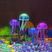 4PCS Aquarium Jellyfish Decoration Glowing Effect Fish Tank Artificial Ornament