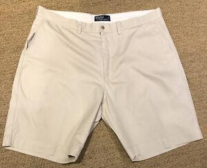 "Polo Ralph Lauren Beige Chino Shorts W40"" L 10"" 5 Pocket Design"