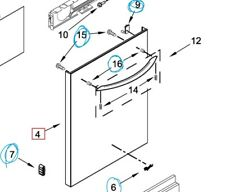 New listing Oem & Nib Front Panel for Whirlpool Dishwasher Wdt730Pahz Part# W10917591