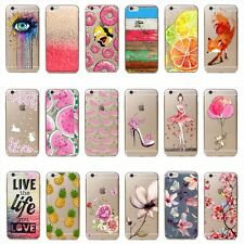 Unusual Pink Girl Pattern Soft Thin TPU phone Case Cover For iPhone 7Plus 5 6S