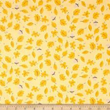 Susybee's Bruce Moose Falling Leaves Lt orange 100% cotton fabric by the yard