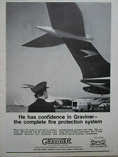 2/1969 PUB GRAVINER AIRBORNE FIRE PROTECTION BOAC GHANA AIRWAYS PAN AM PILOT AD