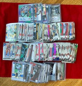 200+ Football Card Lot includes Auto's, Patch-Jersey's, RC's, Prizm, Refractors