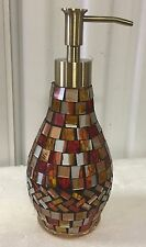 Brand New Lotion / Soap dispenser Anna's linens Mosaic amber lotion dispenser