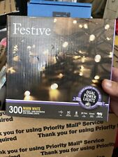 Festive String Lights Battery/ Usb Operated Timer Led Warm White 300 bulbs New