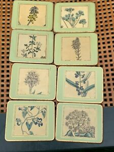 VINTAGE LADYCLARE  FLOWERS FLORAL COASTERS PLACE MATS FOR CUPS / GLASSES
