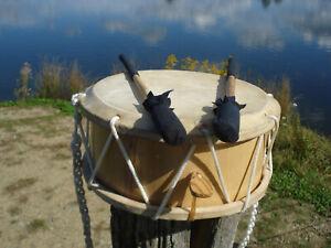 Tabor Drum Trommel 23 cm (9 Zoll) Schnarrsaiten Kordel Schlägel