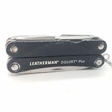 LEATHERMAN SQUIRT PS4 BLACK MINI TOOL MULTI PLIERS W/ KNIFE & SCISSORS 831195 BA