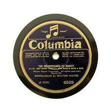 "Milton Hayes ""La meanderings di Monty-Nº 16"" (e +) COLUMBIA 4509 RPM [78]"