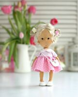 Handmade fabric doll with for home decor and interior design 10'' gift toy