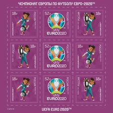 RUSSIA 2021 Full Sheet, EURO 2020 European Football Championship, MNH