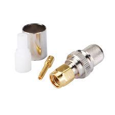10 un. Crimp Plug macho RP-SMA para LMR400 RG8 RG213 RG214 Cable RF Coaxial Conector
