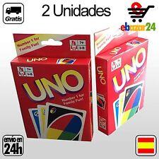 2x2 BARAJAS JUEGO UNO DE MESA 108 CARTAS BARAJA *Envío GRATIS desde España*
