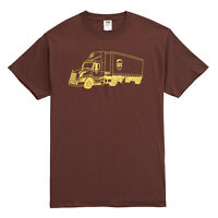 NEW UPS UNITED PARCEL SERVICE MENS COLLECTIBLE BROWN FEEDER TRUCK TEE T-SHIRT