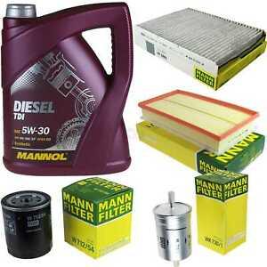Motor-Öl 5L MANNOL DieselI 5W-30+MANN-FILTER Filterpaket Skoda Octavia 1U2 1.4