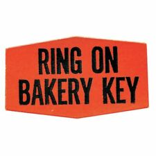 Ring On Bakery Key Labels Fluorescent Red Grabber Grocery Store Labels Black