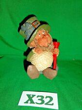 Vintage Blarney Stone Ireland Figurine Fitz the Putter Golf Leprechaun X32