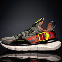 New Men's Casual Shoes Sports Sneakers Outdoor Fashion Flyknit Breathable Shoes