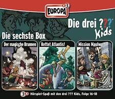 3 CDs * DIE DREI ??? (FRAGEZEICHEN) KIDS - BOX 6 - FOLGEN 16 - 18 # NEU OVP =