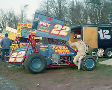 A.B. LEIB #22 JACK FRY AUTO SALVAGE OUTLAW SPRINT CAR 8X10 GLOSSY PHOTO #S6