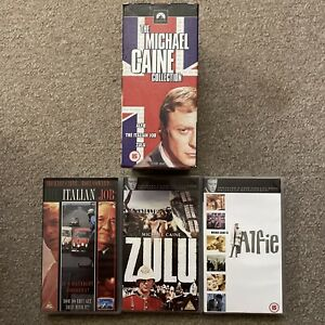 The Michael Caine Collection VHS Boxset Alfie Zulu The Italian Job 3 VHS Videos