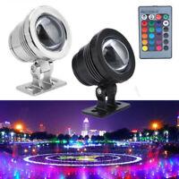 5W/10W/20W RGB LED Light Waterproof Spotlight Garden Fountain w/ Remote Control