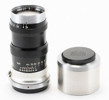 (111) Nikon Nikkor-Q.C 135/3.5 black lens Nikon S w/caps & hood, super clean
