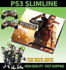 PLAYSTATION PS3 SLIM STICKER BATTLEFIELD HARDLINE 01 SHOTGUN SKIN & 2 PAD SKINS