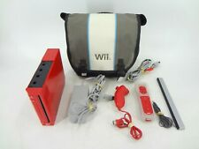 RED NINTENDO WII SYSTEM WITH CONTROLLER & CASE - TESTED
