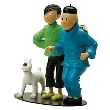 Adventures of Tintin and Chang Meets Statue figure with snowy Leblon Delienne -