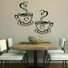 2 Coffee Cup Cafe Tea Wall Stickers Art Vinyl Decal Kitchen Restaurant Pub Decor