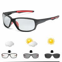 Men Photochromic Polarized Sunglasses Outdoor Driving Riding Fishing Glasses US