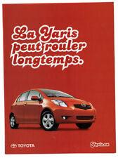 2005 TOYOTA Yaris Original Print AD - Red 4-door car photo French Canada