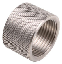 """1/2-28 STAINLESS STEEL THREAD PROTECTOR, 0.400"""" LONG"""