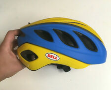 Small Bell Star Pro Yellow Blue Rally Cycling Road Bike Helmet Size S