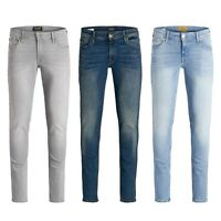 Jack & Jones Liam Mens Skinny Jeans Slim Fit Blue Denim Pants Casual Trousers