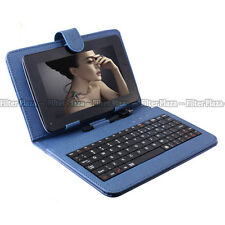 "Magnetic USB 2.0 Keyboard Case Leather Stand Cover for 7"" Tablet PDA Android PC"